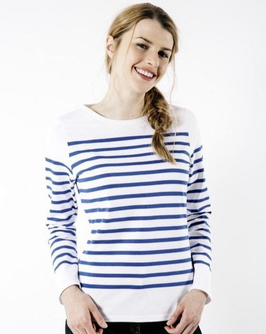 Naval Femme Striped Jersey Nautical Top