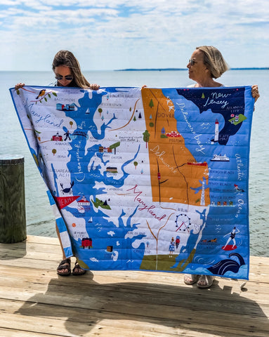 Bay Dreams Quilted Throw - New!