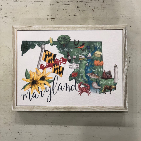 Maryland Framed Canvas Art