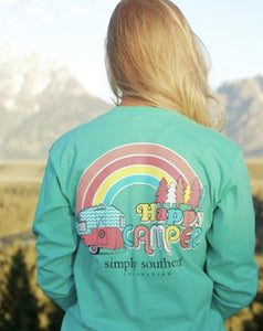Happy Camper Long Sleeve Tee Youth Large
