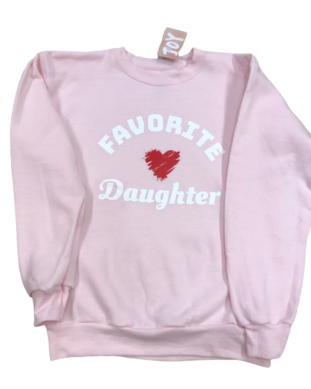 Favorite Daughter Youth Sweatshirt in Pink