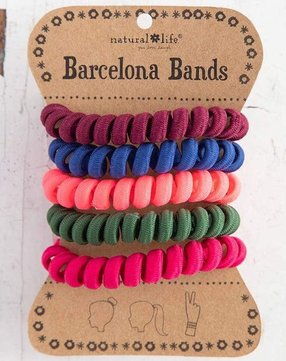 Barcelona Bands Jewel Paracord Coil Hair Bands