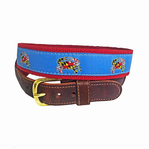 Maryland Crab Flag Belt