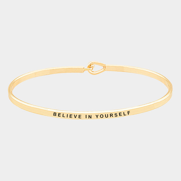 Believe in Yourself Gold Bracelet