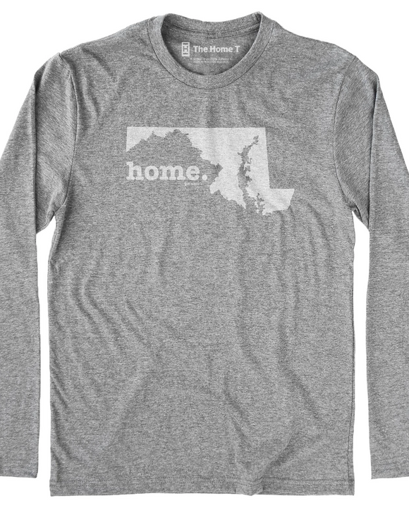 Maryland MD Home Long Sleeve Grey Tee