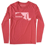 Maryland MD Home Long Sleeve Red Tee