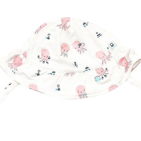 Sunhat in Pink Octopus