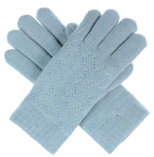 Lattice Pattern Soft Faux Fur Lined Gloves