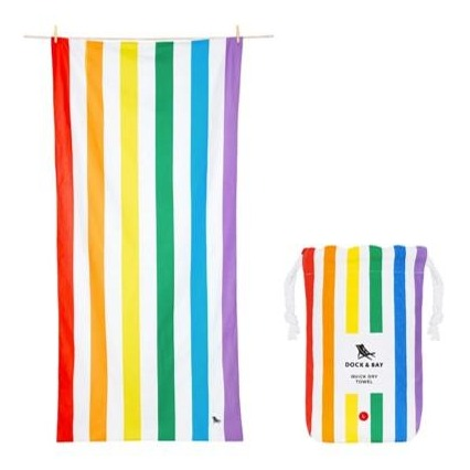 Quick Dry Beach Towel - Rainbow Skies
