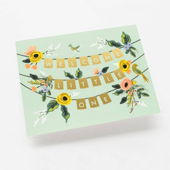 Welcome Little One Floral Card