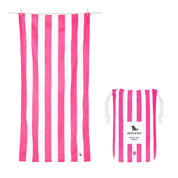 Quick Dry Beach Towel - Phi Phi Pink
