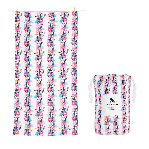 Quick Dry Beach Towel - Toucan Tango