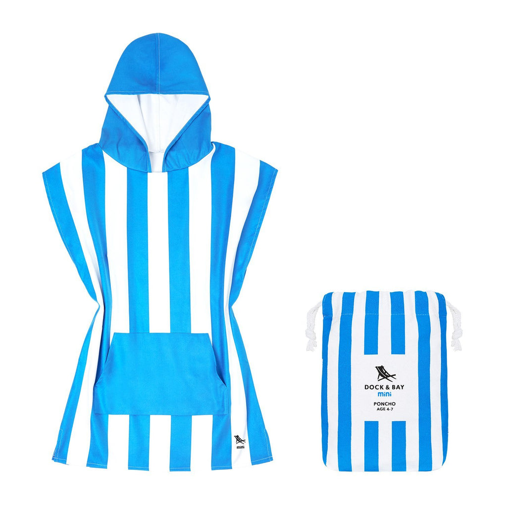 Quick Dry Kids Poncho - Bondi Blue