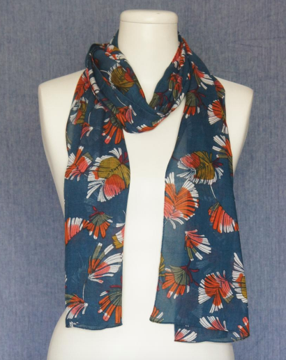 Bright Flowers Scarf