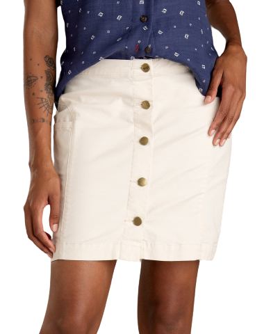 white mini skirt with buttons