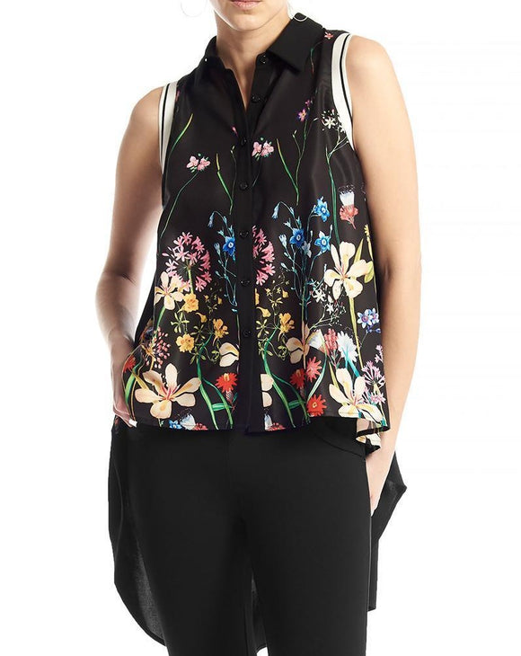 Sleeveless Flower Tank