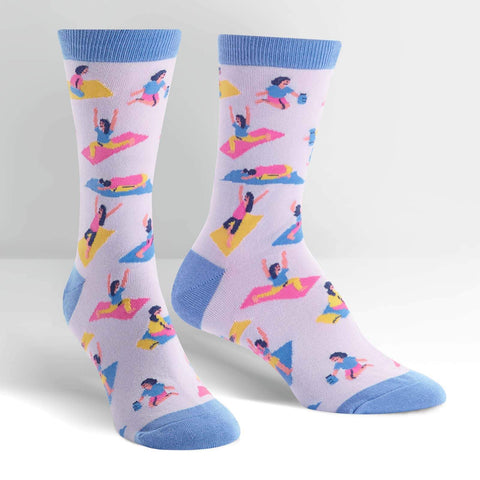 Pose Your Toes Crew Socks