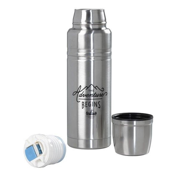 The Adventure Begins Steel Thermos