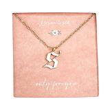 S Gothic Letter Necklace