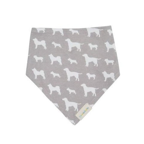 Grey Dog Bandana Bib Baby & Dog Set