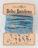 Blue Flower Stamp Boho Bandeau