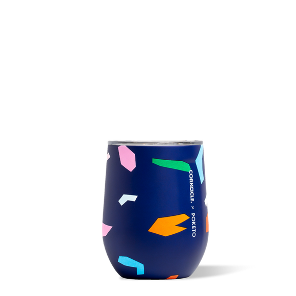 Blue Confetti Poketo Stemless