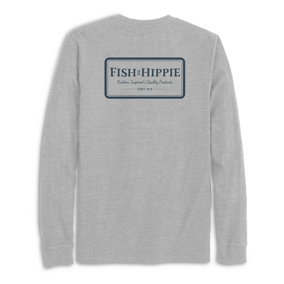 Buffer Long Sleeve Tee in Heathered Gray