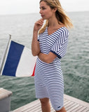 Carpentras V-Neck Striped Dress