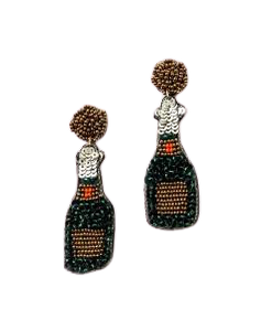 Beaded Champagne Earrings