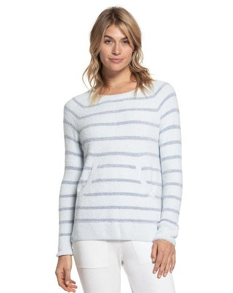 the CozyChic Lite® Striped Raglan Pullover
