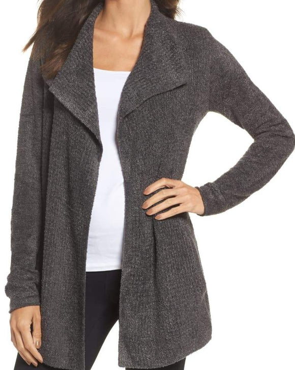Cozychic Lite Coastal Cardigan in Carbon