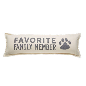 Favorite Family Member Canvas Long Pillow