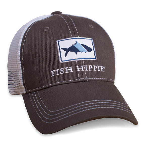 Fish Hippie Trucker Hat in Graphite