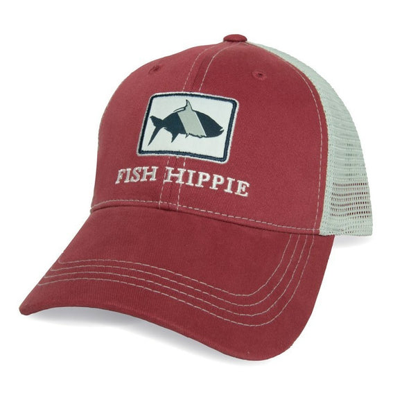 Fish Hippie Game Day Trucker Hat in Red