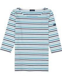 Phare Boat Neck Striped Tunic in Blue Stripes