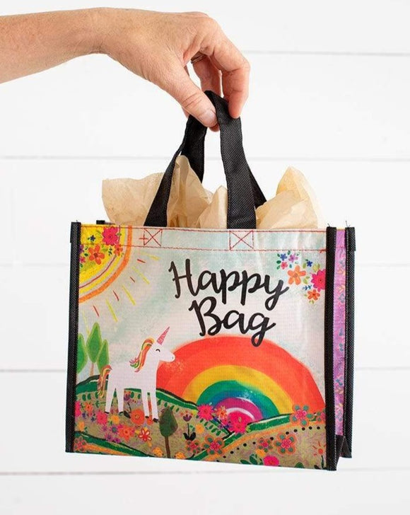 Medium Unicorn Rainbow Happy Bag