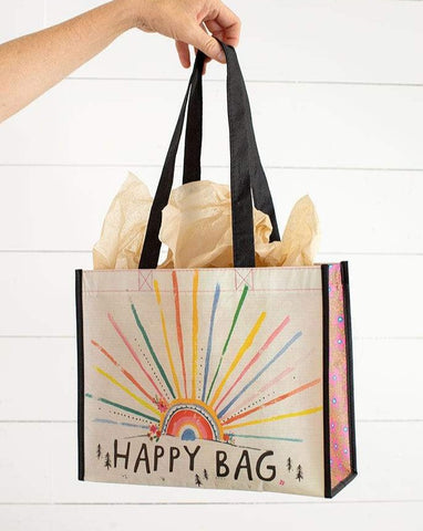 Large Sunrise Rainbow Burst Happy Bag