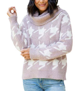 CozyChic Houndstooth Pullover
