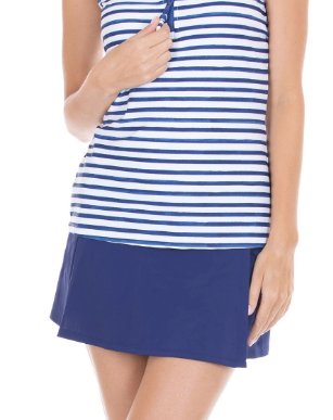 Navy Swim Skirt