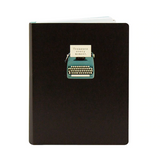 treasure every moment notebook featuring a typewriter