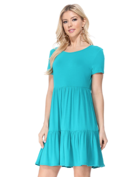 Robin Short Sleeve Tiered Dress