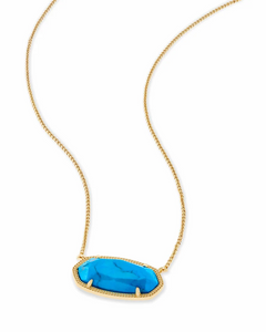 Delaney Necklace in Aqua Howlite