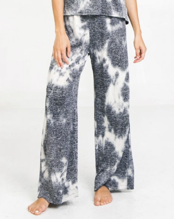 black tie dye lounge pants flying tomato