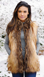 Fabulous Furs Red Fox Faux Fur Vest