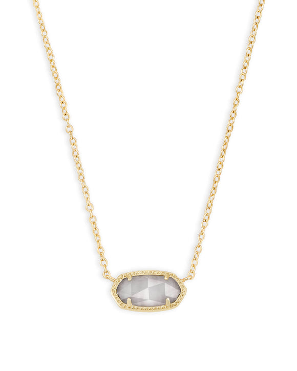Elisa Gold Pendant Necklace In Slate