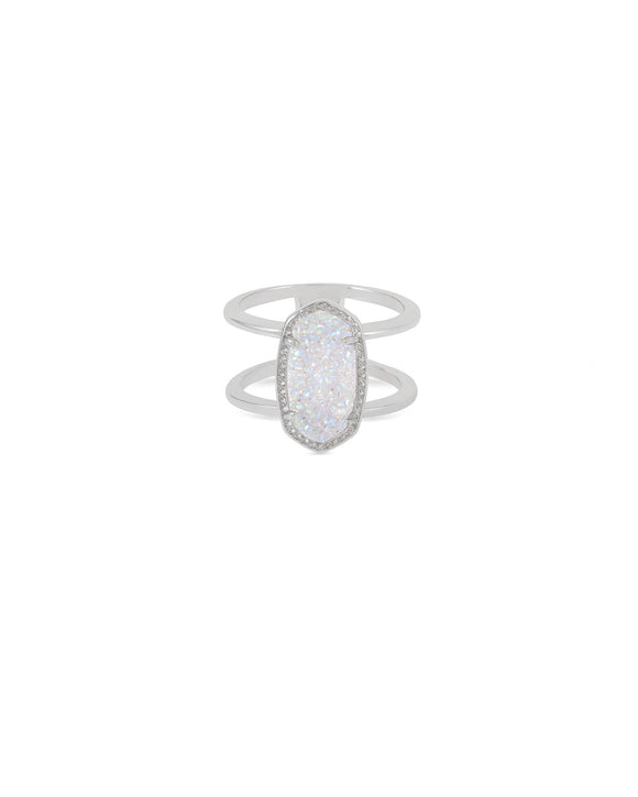 Elyse Silver Ring In Iridescent Drusy