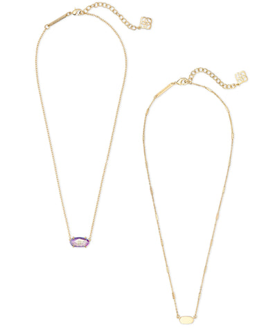 Fern & Ever Necklaces Gift Set In Gold