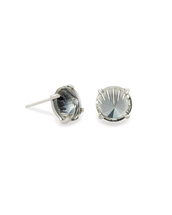 Jolie Silver Stud Earrings In Charcoal Gray Ombre