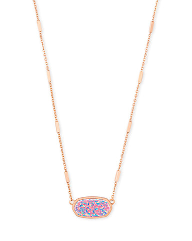 Miley Rose Gold Pendant Necklace In Lavender Kyocera Opal