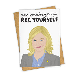 Rec Yourself Leslie Knope Card